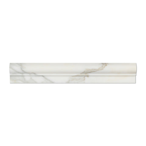 Calacatta Gold Marble OG-1 Chair Rail Molding Trim Polished - American Tile Depot