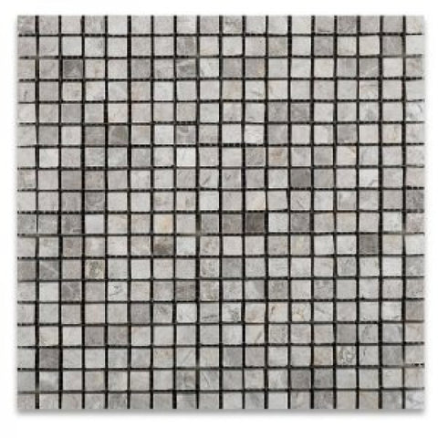 5/8 X 5/8 Tundra Gray (Atlantic Gray) Marble Polished Mosaic Tile
