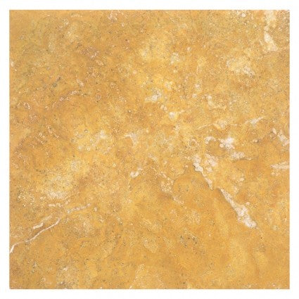 12 X 12 Gold / Yellow Travertine Filled & Honed Field Tile