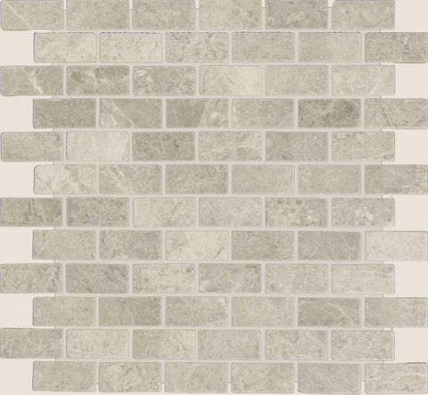 1 X 2 Tundra Gray (Atlantic Gray) Marble Polished Brick Mosaic Tile