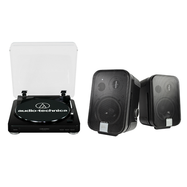Pack Tornamesa AT-LP 60 USB + Bocinas JBL Control 2P