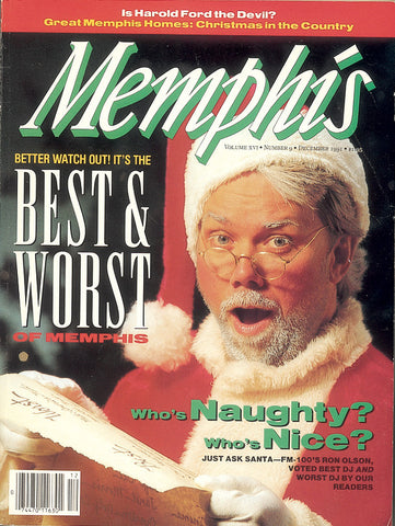 December 1991, Memphis magazine