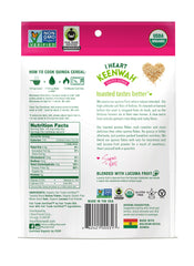 INGREDIENTS: Organic Royal Bolivian Toasted Quinoa Flakes, Organic Gluten-Free Whole Grain Oats, Organic Lucuma Fruit Powder.