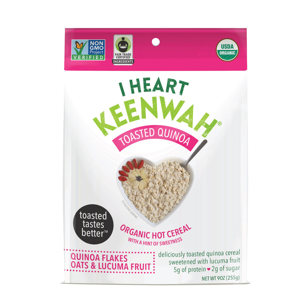 I Heart Keenwah TOASTED QUINOA FLAKES HOT CEREAL - SWEETENED (W/ LUCUMA)
