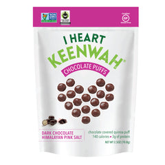 I Heart Keenwah Chocolate Puffs DARK CHOCOLATE HIMALAYAN PINK SALT