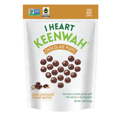 I Heart Keenwah Chocolate Puffs DARK CHOCOLATE peanut butter