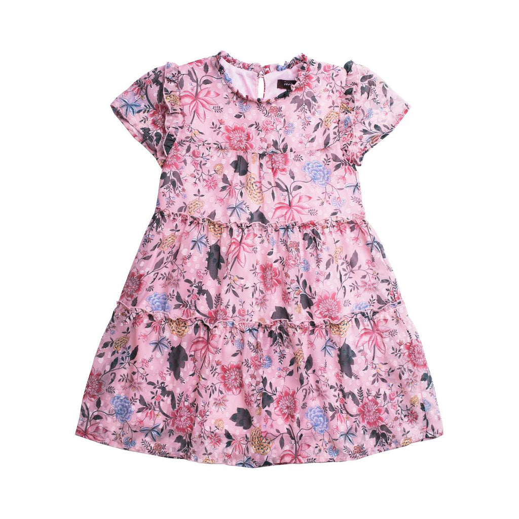 PRINTED CHIFFON DRESS OAKLEY