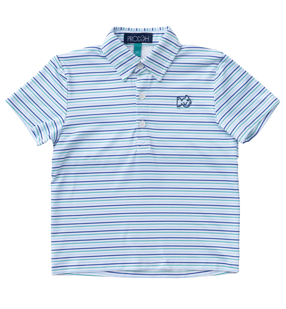 Performance Polo Clubhouse Stripes