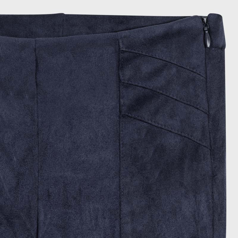 Navy faux suede  pants style 7535
