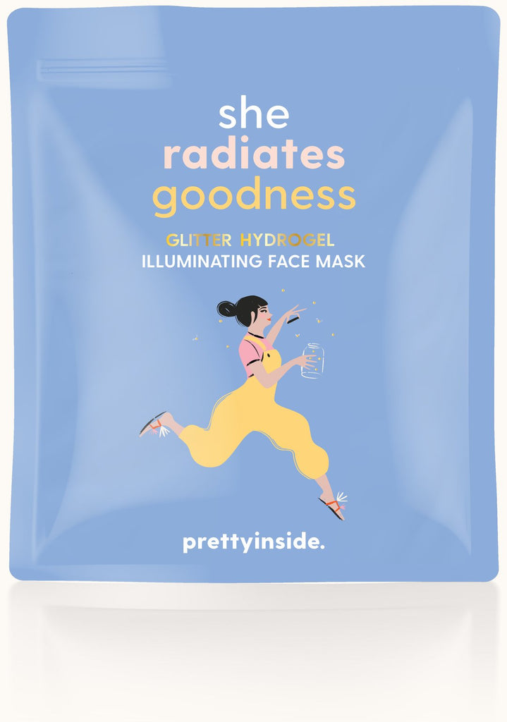 She Radiates Goodness Glitter Hydrogel Face Mask