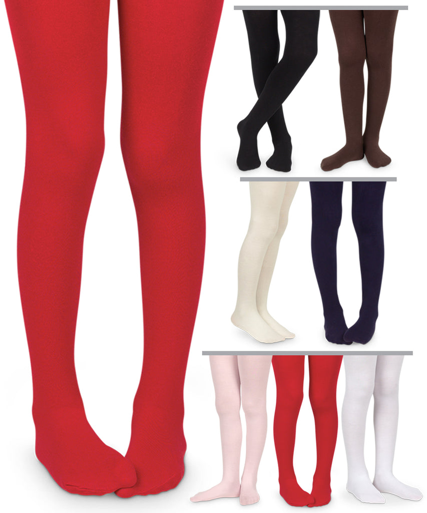 1445 Smooth Microfiber tights-White
