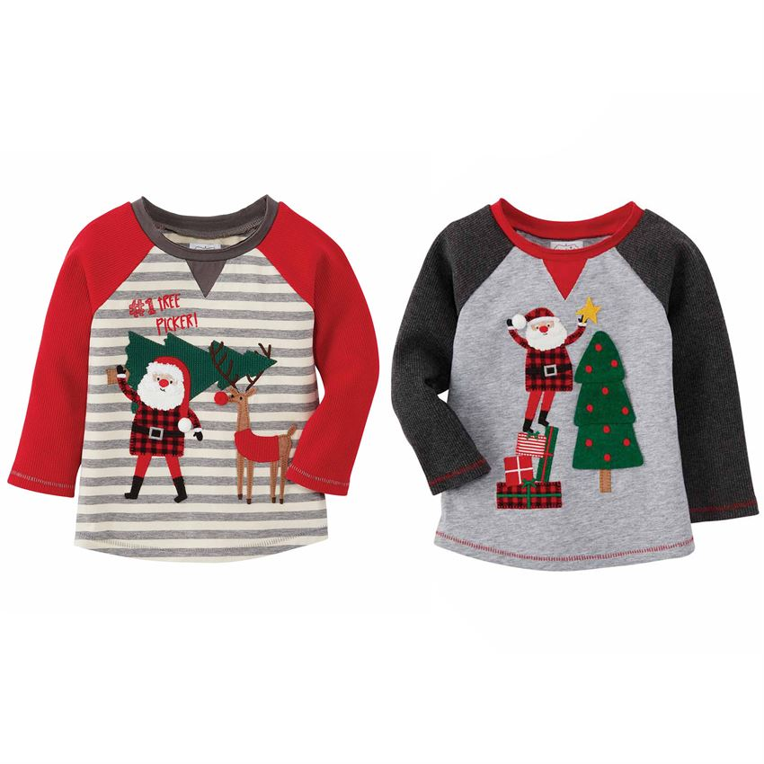 SANTA ALPINE VILLAGE BOY TEES