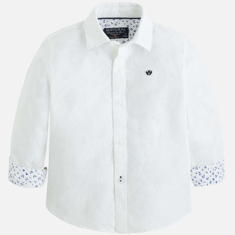 Long sleeve white oxford shirt style 142