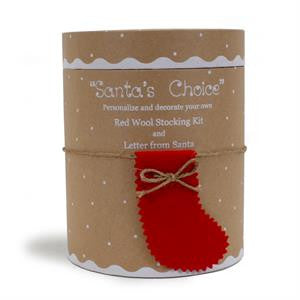 Santa's Choice Red Wool Stocking Kit