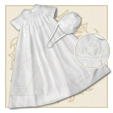 Boy White Christening Gown with Bonnet & Slip  2575BY