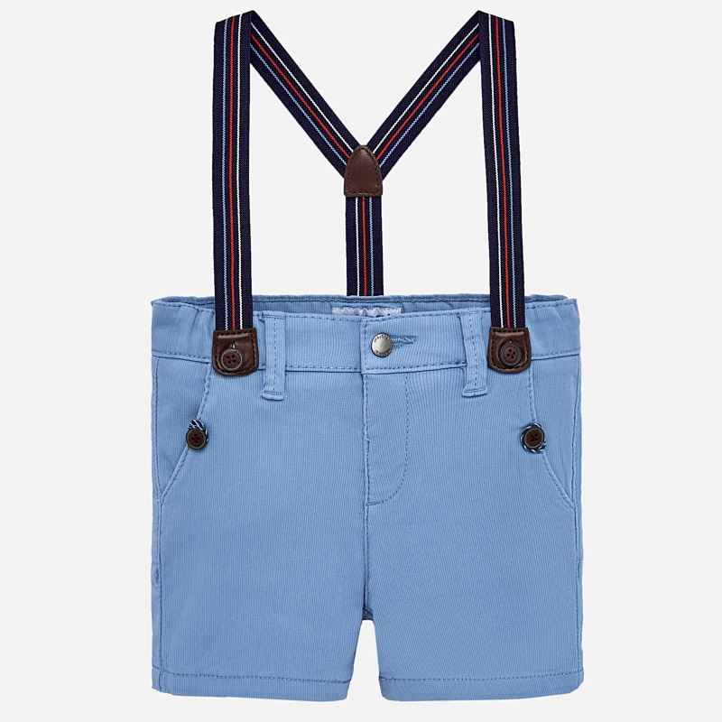 Light blue shorts with suspenders style 1247