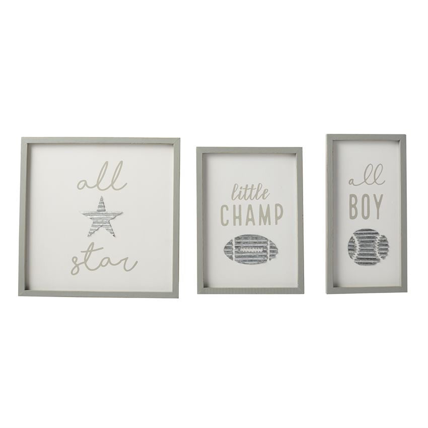 ALL BOY TIN ICON SPORT PLAQUES