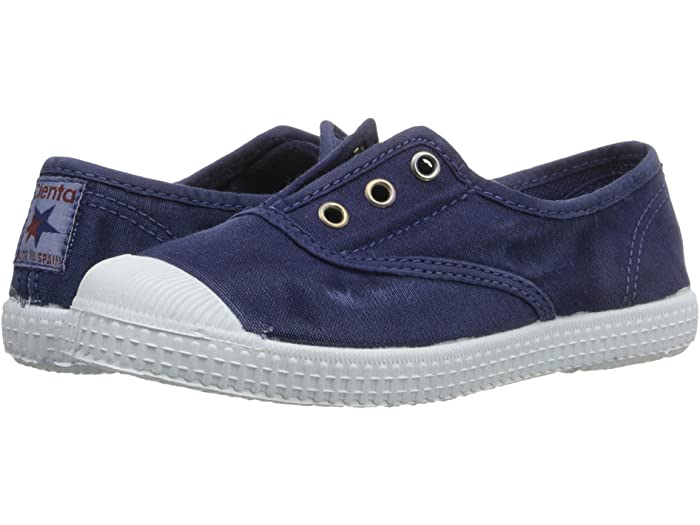 Cienta Navy slip on distressed style
