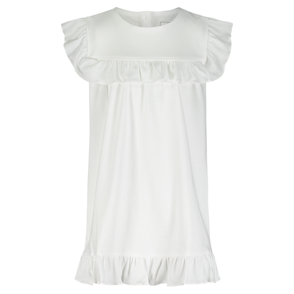 Piper Flutter Dress-White