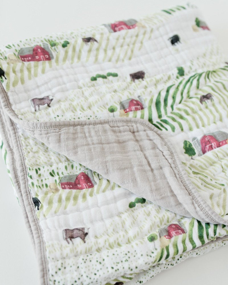 COTTON MUSLIN QUILT (many styles)