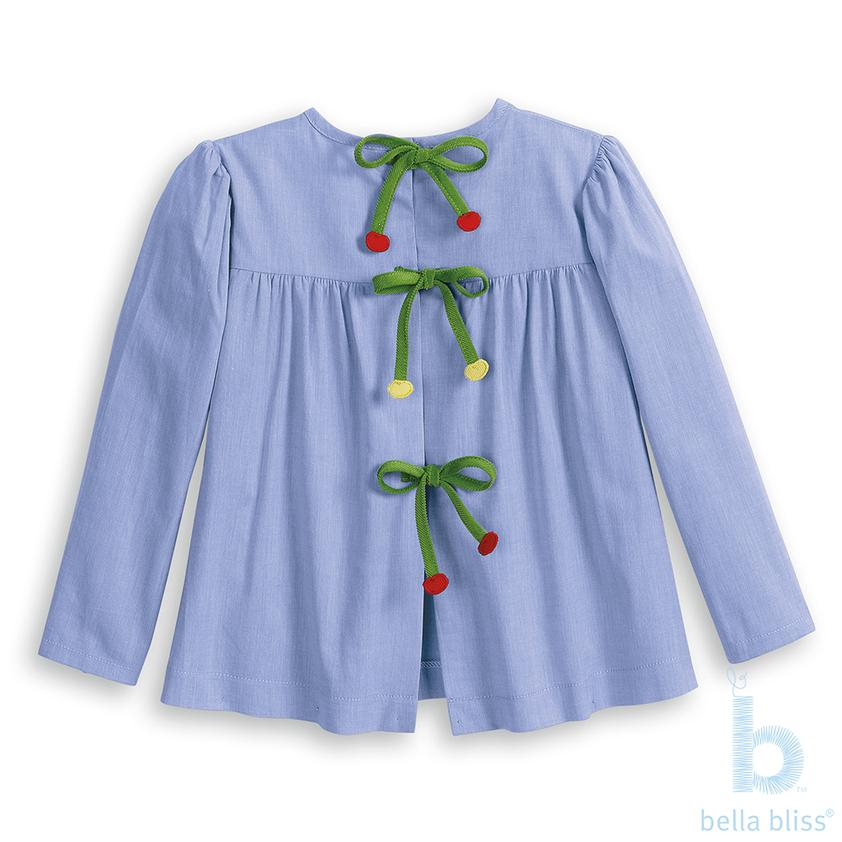 Toulouse Blouse-Blue Chambray