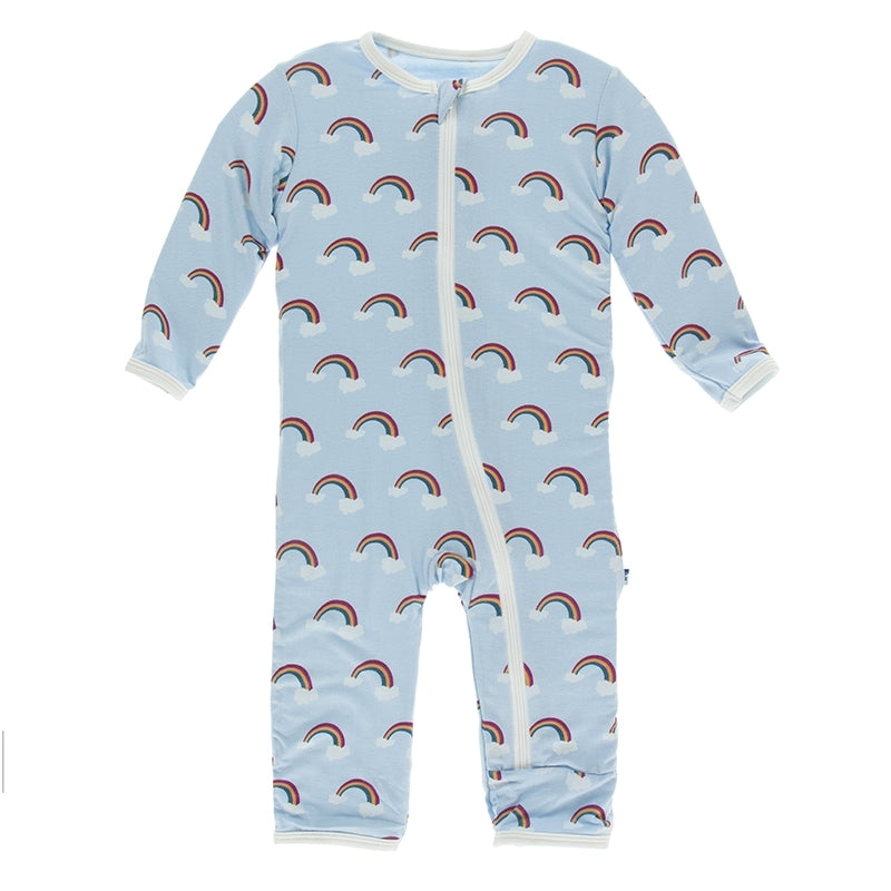 Print Coverall with Zipper (Pond Rainbow)