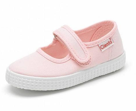 Cienta Kids Mary Jane Pink solid