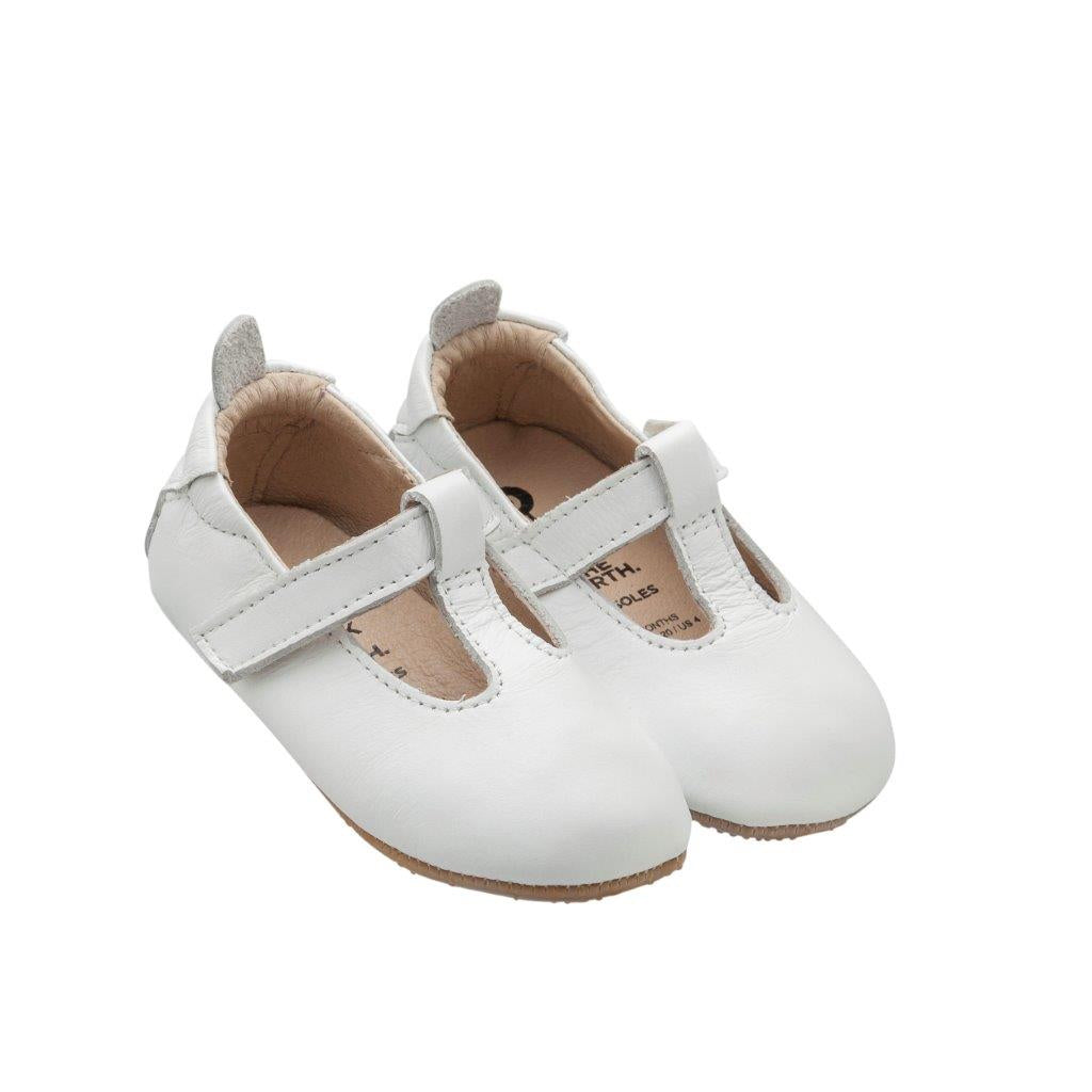 Ohme-Bub Snow leather crib shoes