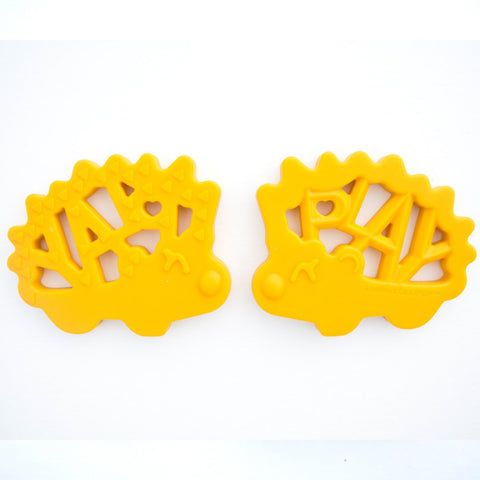 """WORLD OF WORDS"" PLAY HEDGEHOG SILICONE TEETHER"