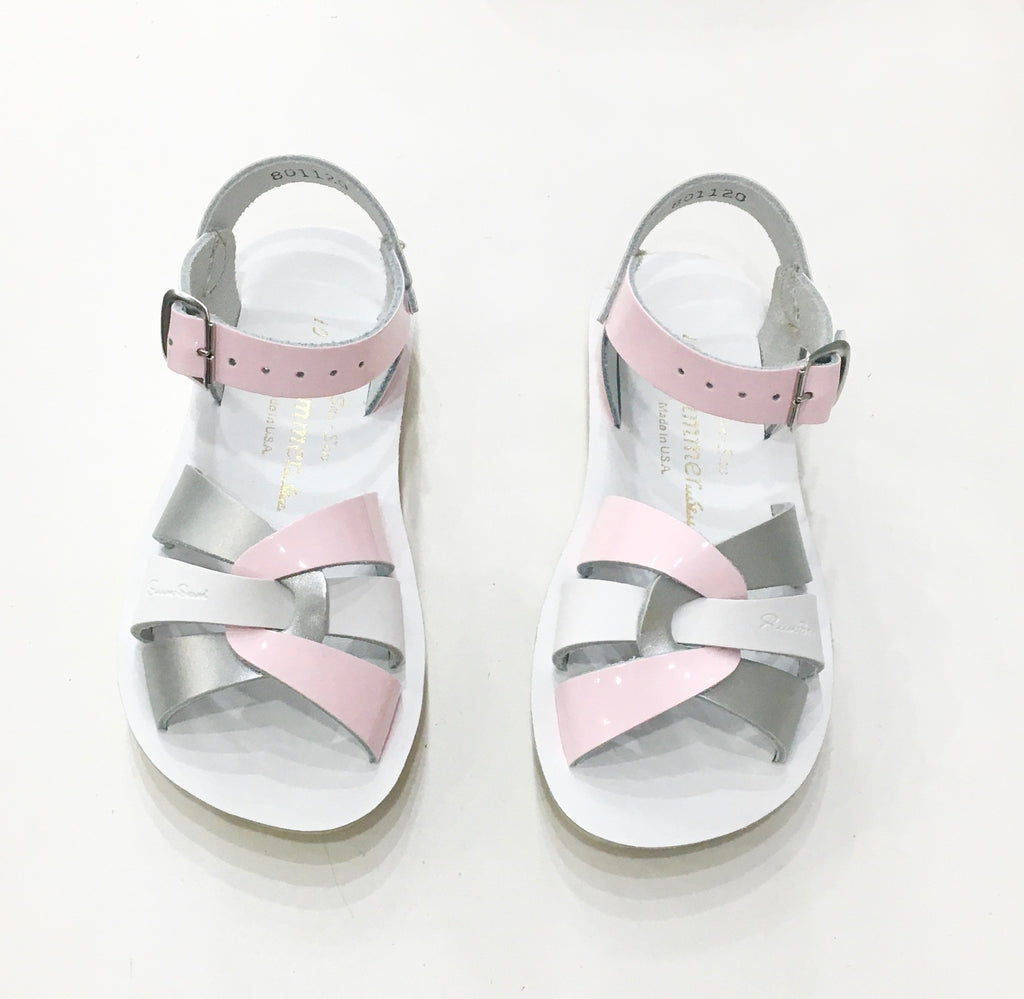 Swimmer Saltwater sandals Silver Pink White