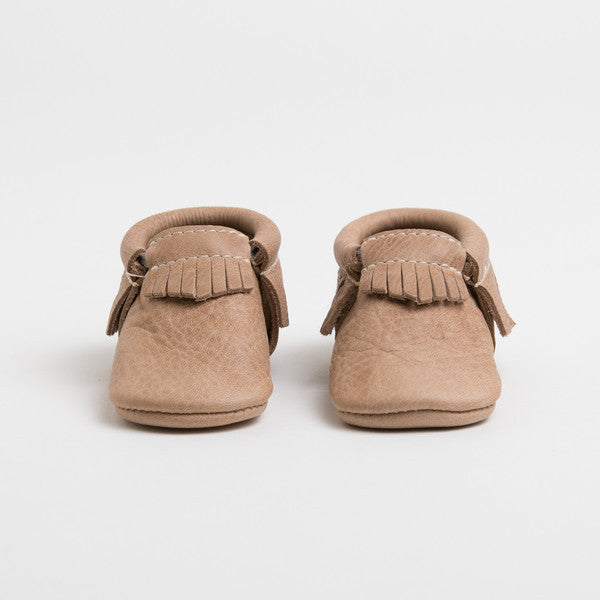 Weathered Brown  Leather Moccasins