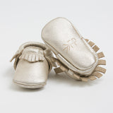 Platinum Leather moccasins