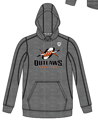 Outlaws Lacrosse Grey Hoodie