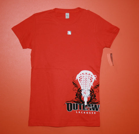 Outlaws Ladies' Orange Sidewinder Tee