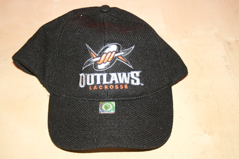 Outlaws Stretch-Fit Black Hat with Logo