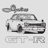 Hand Drawn 1971 Skyline GTR Hakosuka T-Shirt