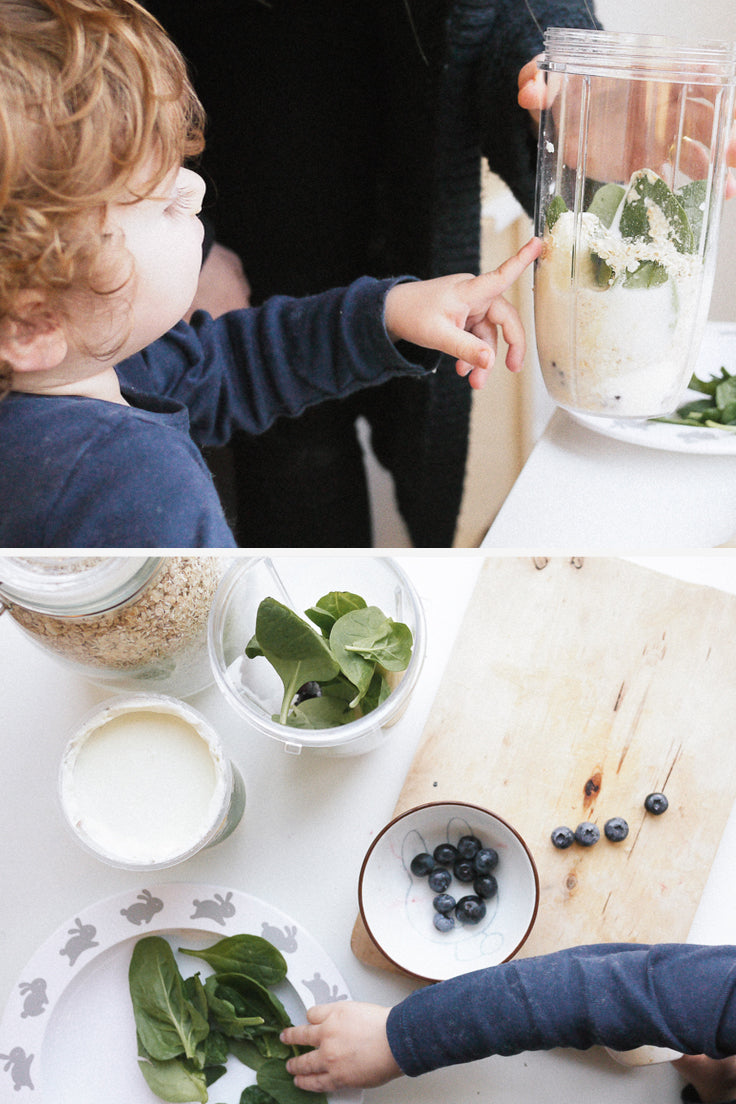Fun smoothie activities for kids with Buddy and Bear
