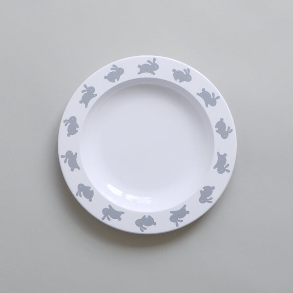 Cute Buddy and Bear Hoppy Bunny Plastic Plate