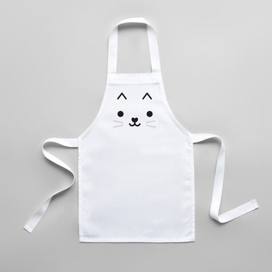 Toddler Cat Apron - Cute Kids Kitchen Apron
