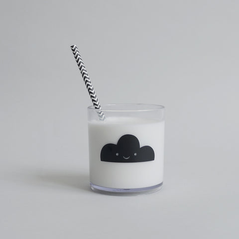 Cute Buddy and Bear Happy Clouds Tumbler Black