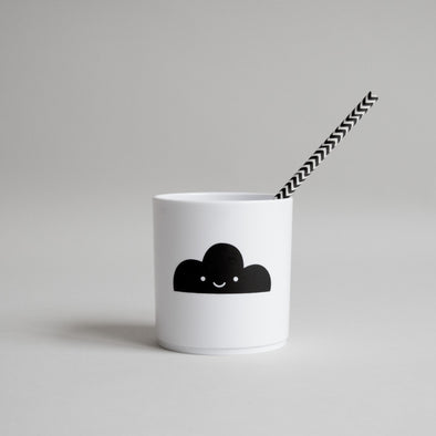 Cute Buddy and Bear Happy Clouds Tumbler White Edition