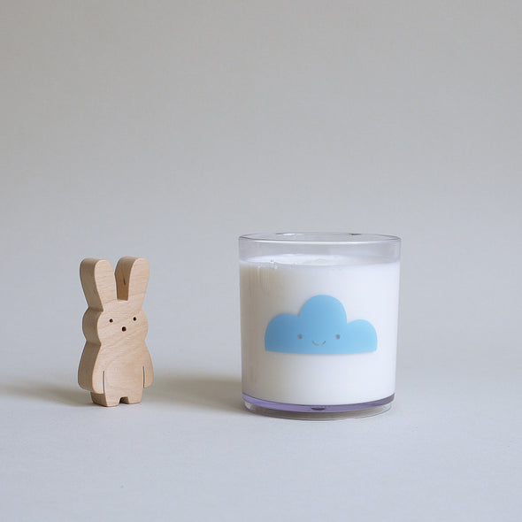 Cute Buddy and Bear Happy Clouds Tumbler Blue