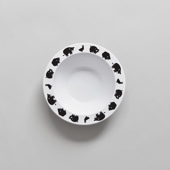 Farm Animal Bowl (Black)