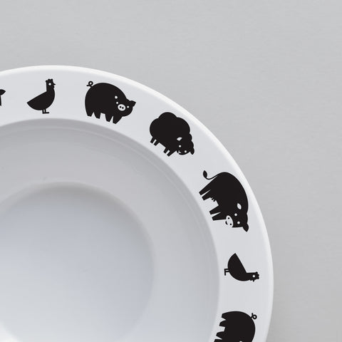 Farm Animal – Bowl (Black)