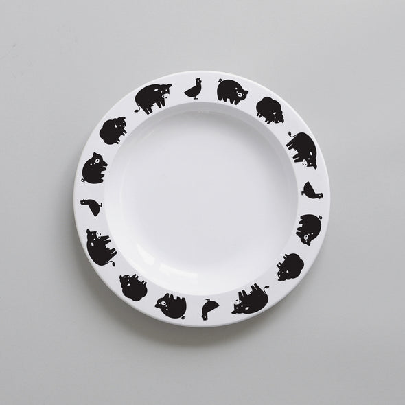 Farm Animal Plate (Black)
