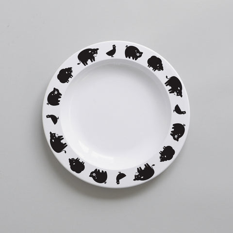 Farm Animal – Plate (Black)