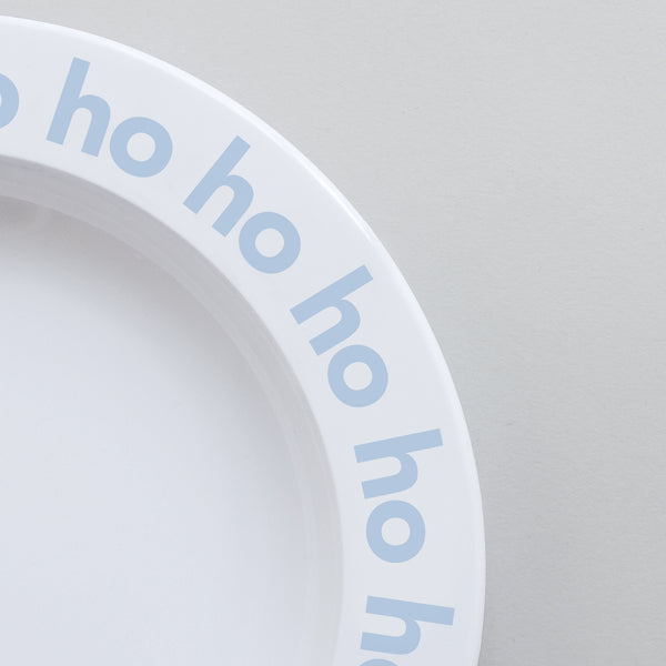 Cute Buddy and Bear Ho Ho Ho Christmas Plate Frost