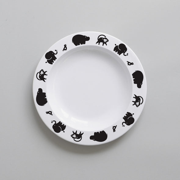 Wild Animal Plastic Plate (Black)