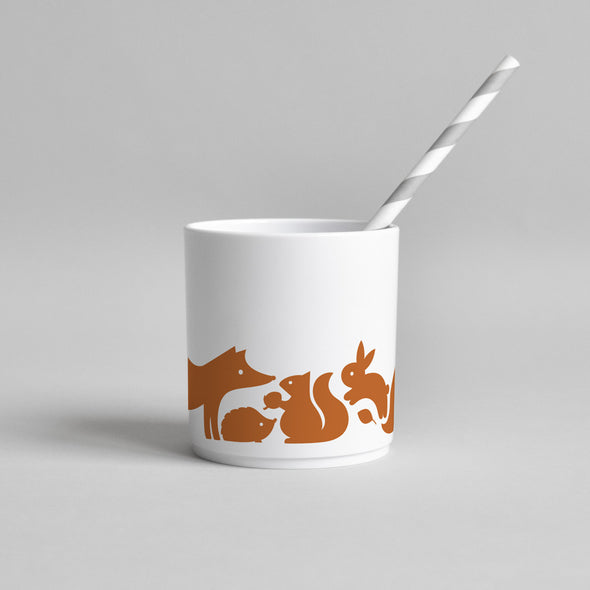 Woodland Animal Tumbler (Cinnamon)