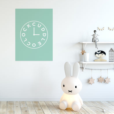 Buddy and Bear – Cuddle O'clock nursery print